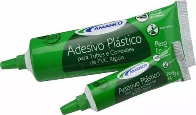 Kit 10 Amanco Adesivo Plástico Cola Tubo Conexões PVC Rígido 17g