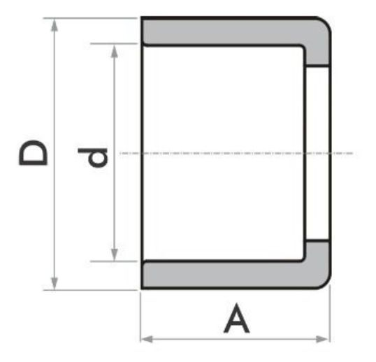 Kit 5 Bucha Redução Soldável Curta 60 X 50 Fortlev