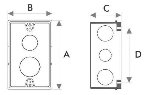 Kit 20 Caixinha de Luz Embutir 4x2 para Alvenaria Plastica Amarela Fortlev