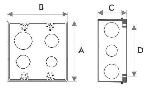Kit 12 Caixinha de Luz Embutir 4x4 para Alvenaria Plastica Amarela Fortlev