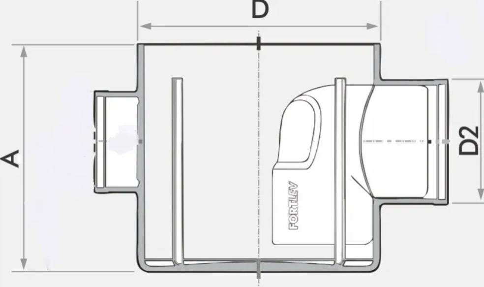 Caixa Sifonada Quadrada Branca 5 Entradas 150X185X75 Fortlev