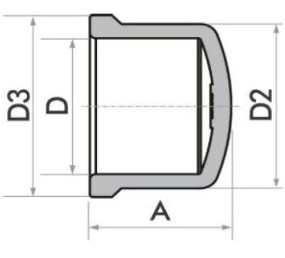 Kit 10 Caps Tampa Fortlev 40mm (1.1/4'' Pol) Soldável Marrom
