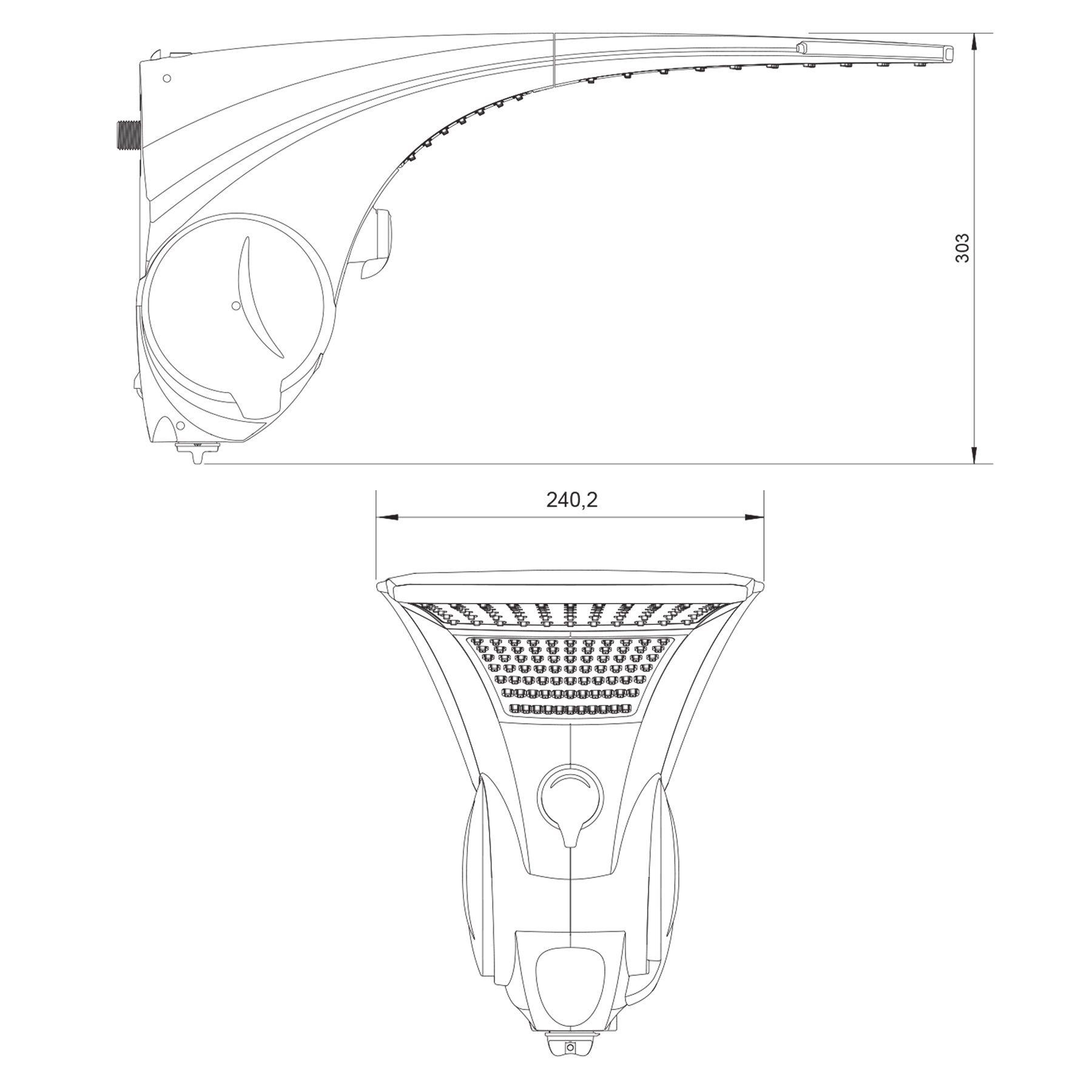 Chuveiro Pressurizado Lorenzetti Duo Shower Quadra Multitemperatura 220V 7500W Branco
