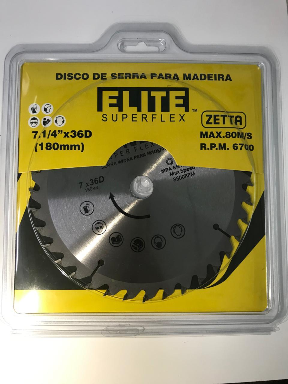Elite serra videa madeira 7.1/4 x 36D 180x1,6