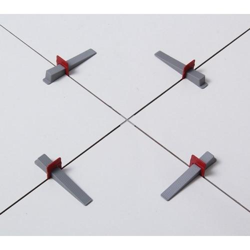 Kit 100 Espaçador Nivelador Cortag Slim 1,0mm Azul Slim