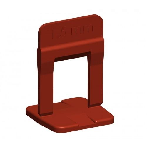 Espaçador Nivelador Cortag Slim 1,5mm Vermelho 100pçs