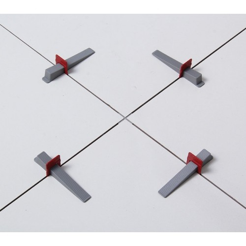 Kit 100 Nivelador Espaçador De Piso Slim 1,5mm Cortag 61535