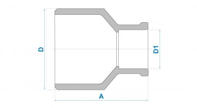 Kit 10 Bucha Redução Soldável Longa 50x25 Fortlev