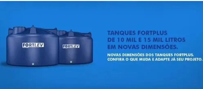 Fortlev Caixa D'agua tampa rosca 10000lts - Somente  SP