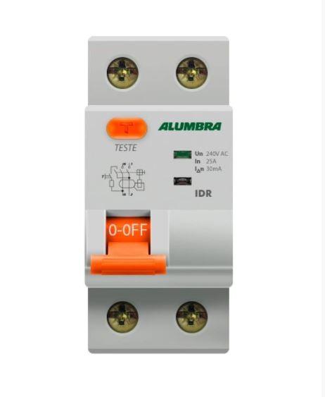 Interruptor IDR Diferencial Residual Bipolar 63A 127-220V 8570 Alumbra