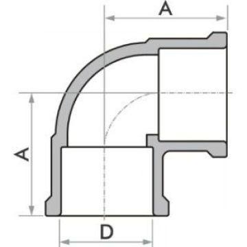 "Kit 10 Joelho Soldável Marrom Fortlev 50 mm (1.1/2"" Pol.) X 90°"