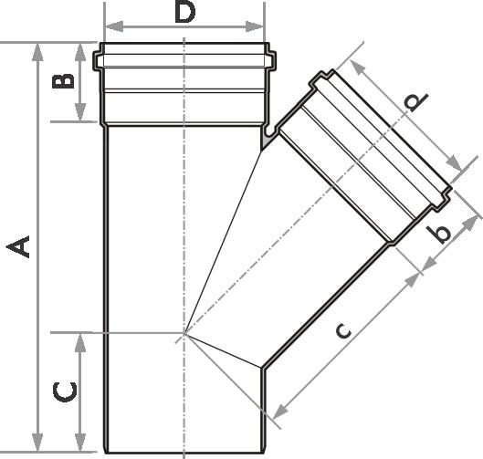 Junção De Esgoto Fortlev 75mm (3'' Pol.)