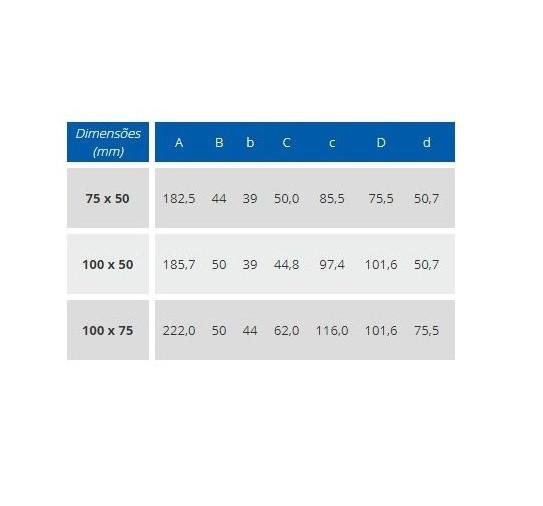 Junção De Redução Esgoto Fortlev 100mm 4'' X 75mm 3''