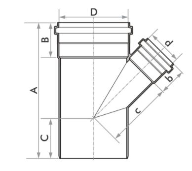 """Junção De Redução Esgoto Fortlev 100 mm (4'') x 50 mm (2'')"""""""
