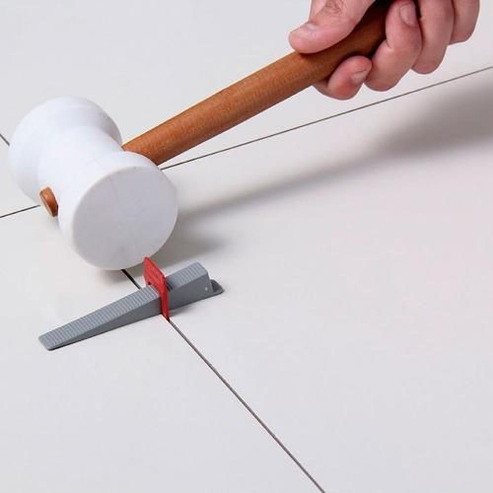 Kit 100 Cunha Nivelamento Para Espaçador Slim Cortag 61538