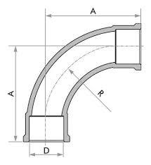 Kit 10 Curva Longa Fortlev 50mm (1.1/2'' Pol) X 90° Soldável