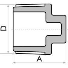 Kit 20 Plug Fortlev Pvc Roscável Para Água Fria 1/2''