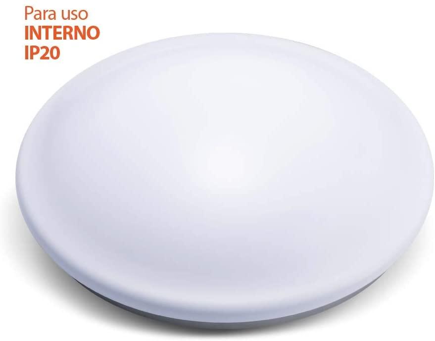 Luminária de Led Plafon 18W C/ Sensor Alumbra