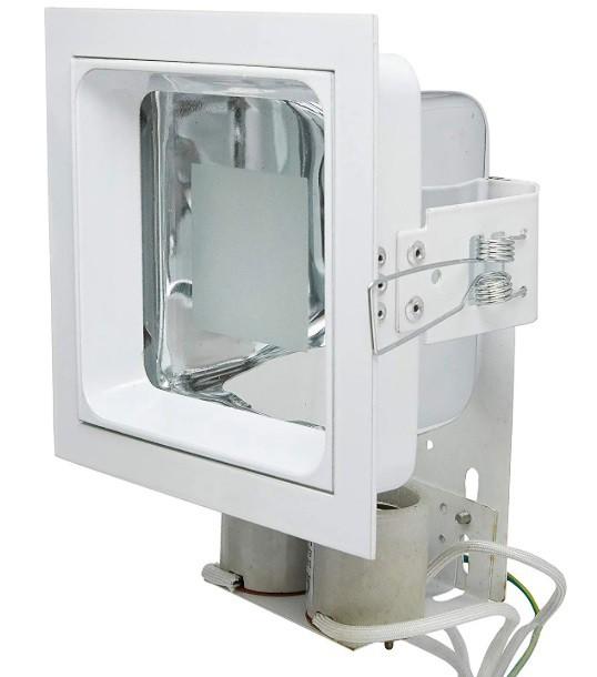 Luminária Embutir Quadrada Semi Fosco 14x14 Alumbra