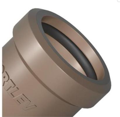 Luva Correr Sold Marrom  Fortlev 50mm (1.1/2'' Pol.)