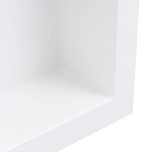 Nicho de Embutir em Mármore Sintético Com 2 Leds 30x50cm Branco Forma Artefatos
