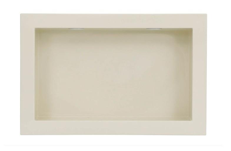 Nicho de Embutir em Mármore Sintético Com 2 Leds 30x50cm Bege Forma Artefatos