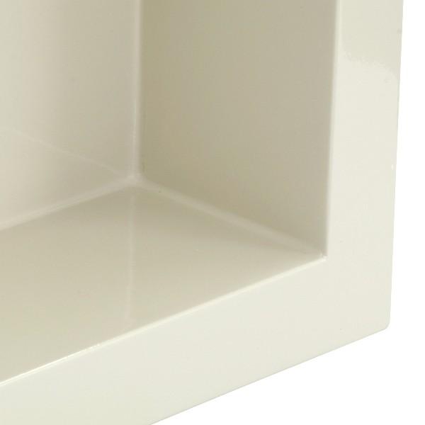 Nicho de Embutir em Mármore Sintético 30x30cm Bege Forma Artefatos