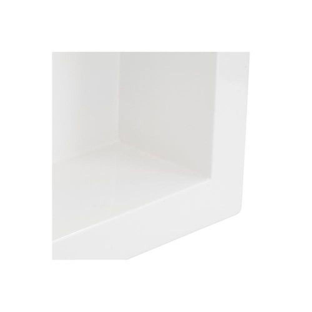 Nicho de Embutir em Mármore Sintético 30x30cm Branco Forma Artefatos
