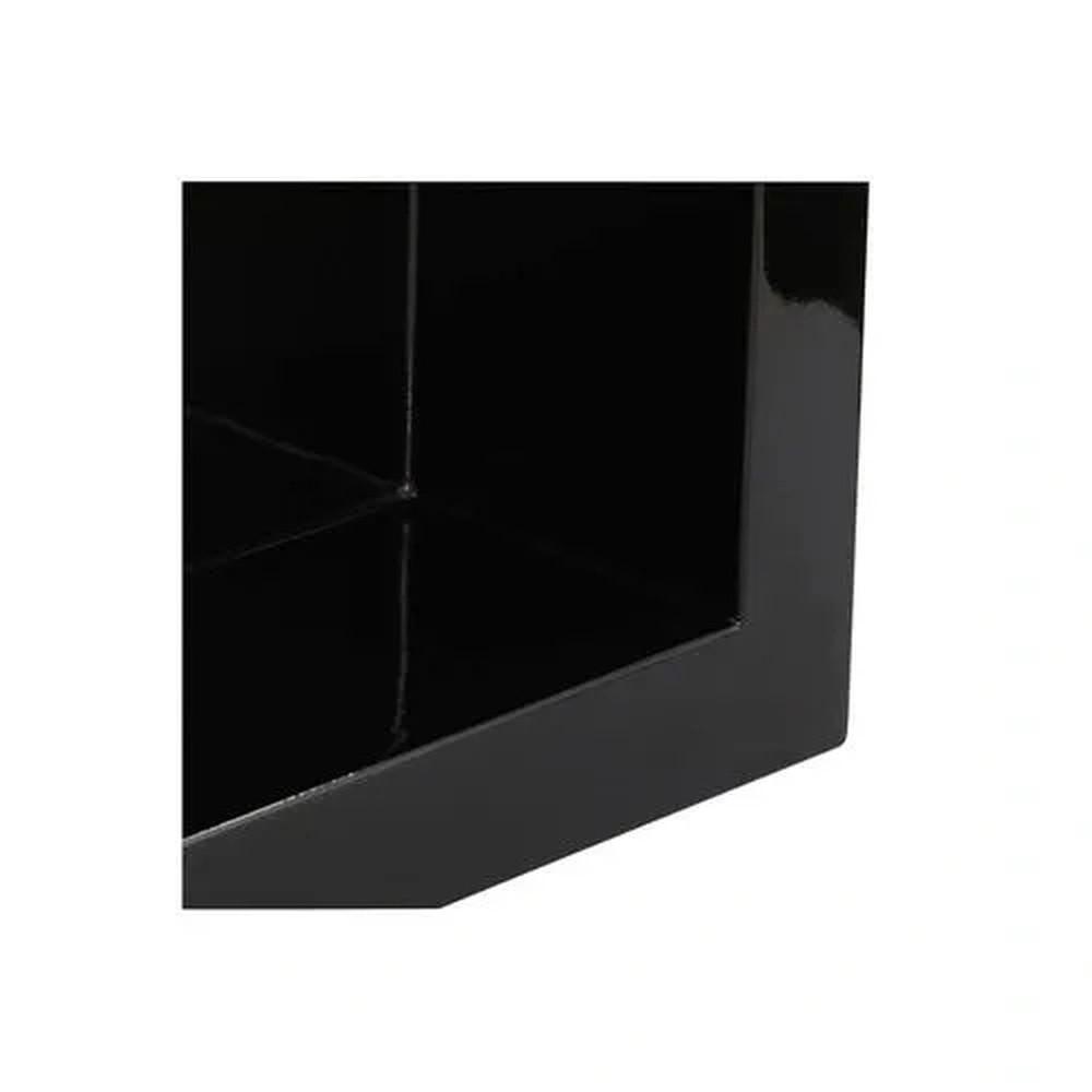 Nicho de Embutir em Mármore Sintético 30x30cm Preto Forma Artefatos