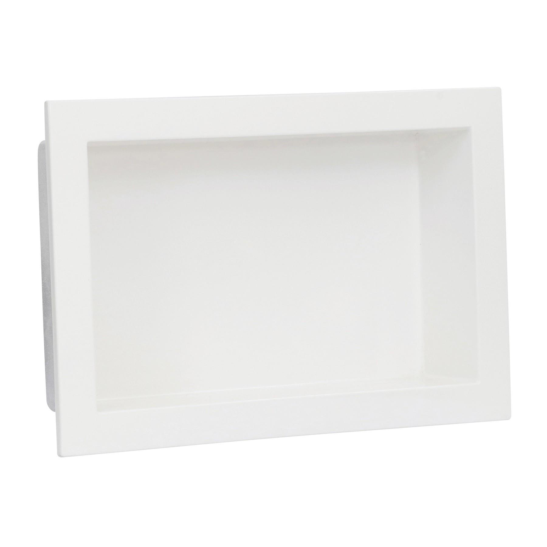 Nicho de Embutir em Mármore Sintético 30x50cm Branco Forma Artefatos