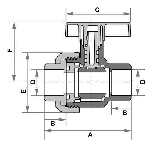 Registro Esfera Soldável Fortlev 60mm (2'') Marrom