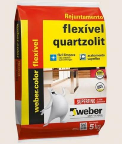 Rejunte Flexível para Cerâmicas 5KG Palha Quartzolit