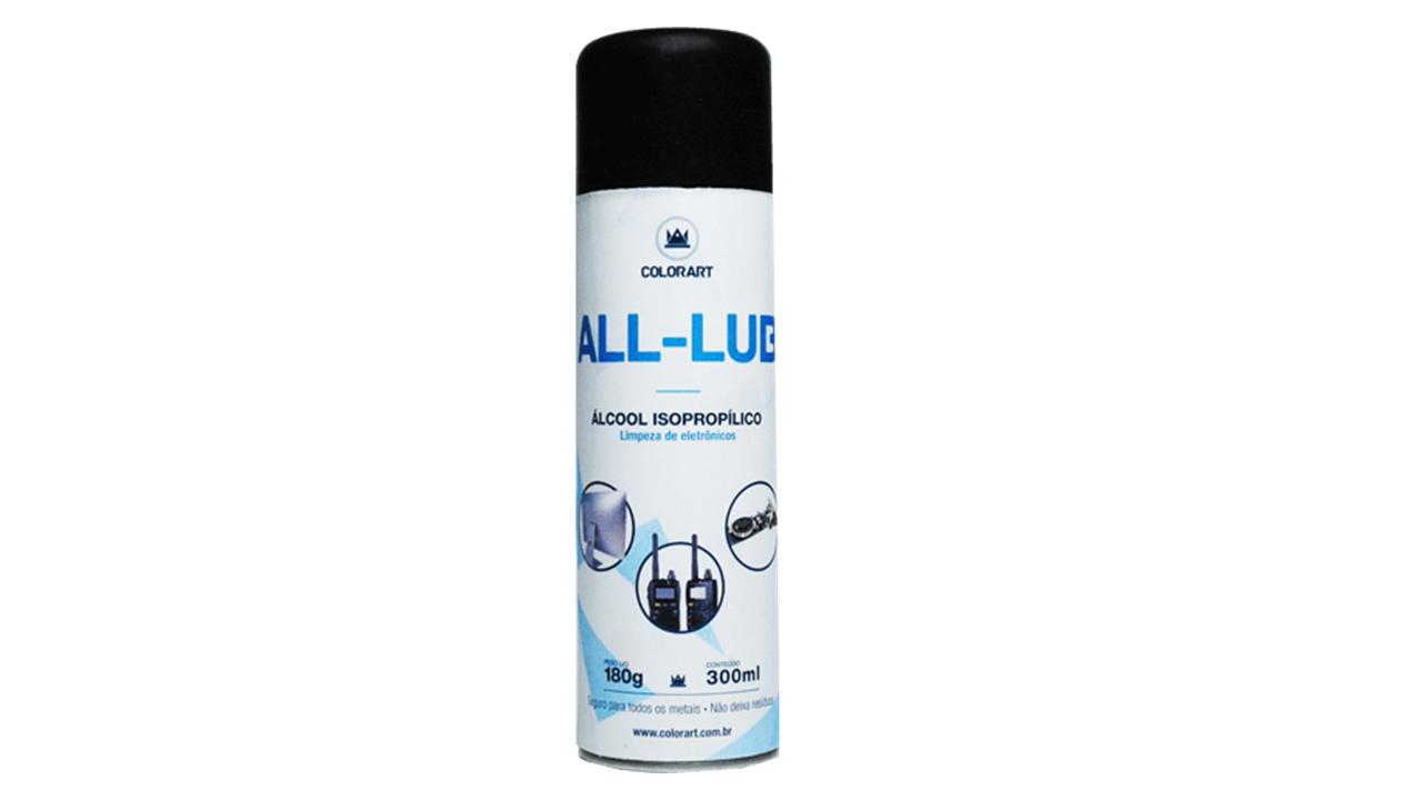 Spray Álcool Isopropílico All Lub Colorart