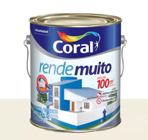 Tinta Coral Rende Muito acrílica fosca branco 3,6L