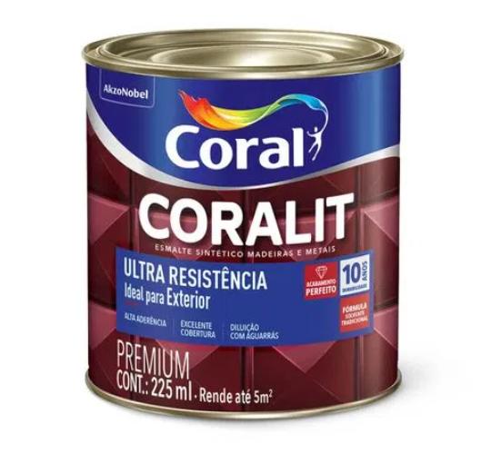Tinta Esmalte Coral Coralit Ultra Resistência Brilho 225ml - Branco