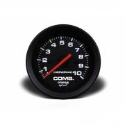 Manômetro Cronomac Street Pressão Combustível 10 bar 52mm Preto