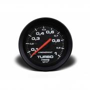 Manômetro Cronomac Street Pressão Turbo 1 bar 52mm Preto