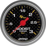 Manômetro ODG Carbon Turbo Boost 3 bar 52mm