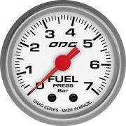 Manômetro ODG Drag Pressão Combustível Fuel 7 bar 52mm