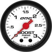 Manômetro ODG Mustang Pressão Turbo Boost 3 bar 52mm