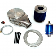 Mufla Carburador CHT 460 com Filtro Esportivo Duplo Fluxo e Válvula