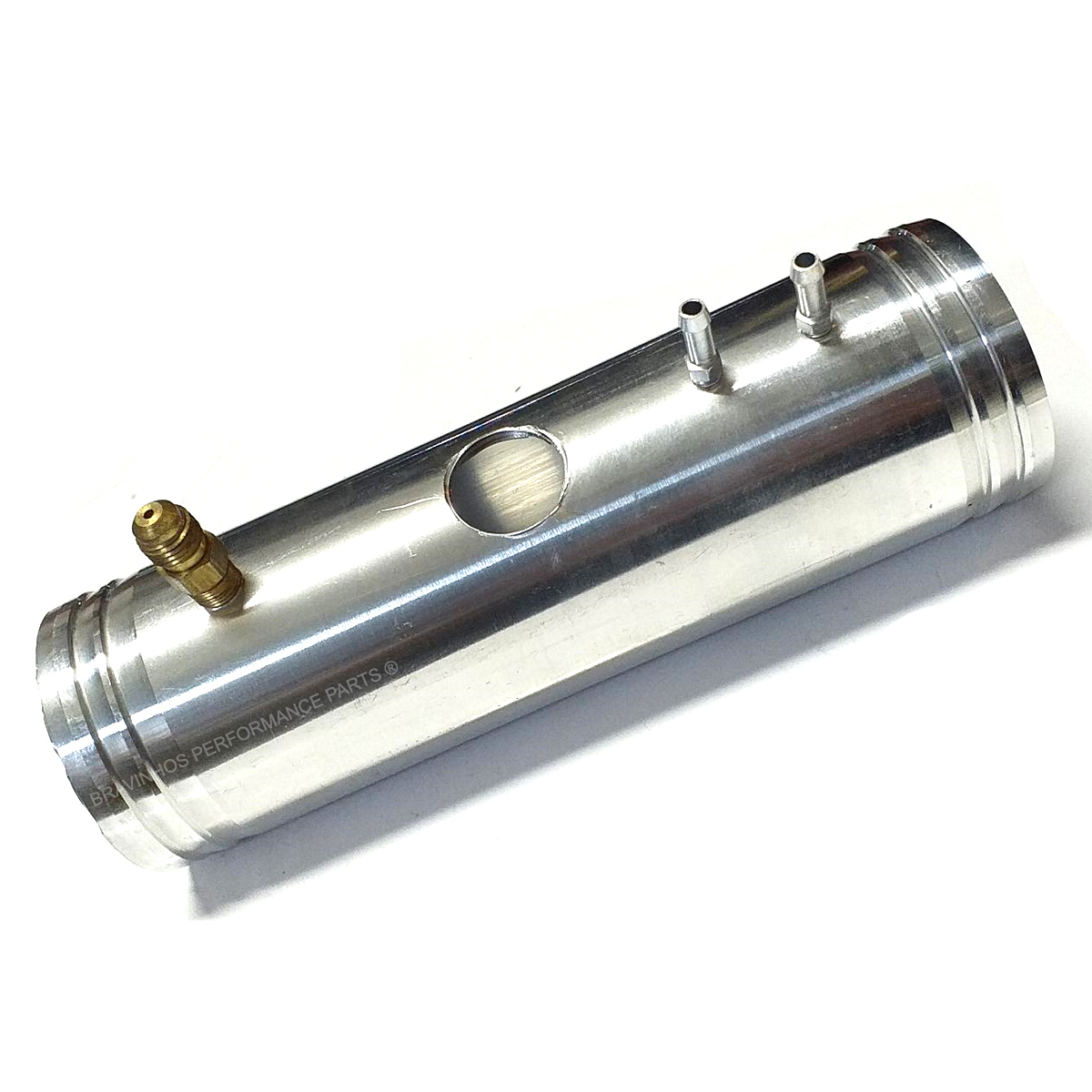 Canote em Alumínio 63mm Tubo Pressão Com Furo Válvula Turbo