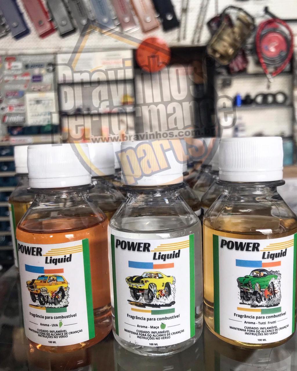 Cheirinho Aromatizante de Combustível Frasco 100ml Power Liquid