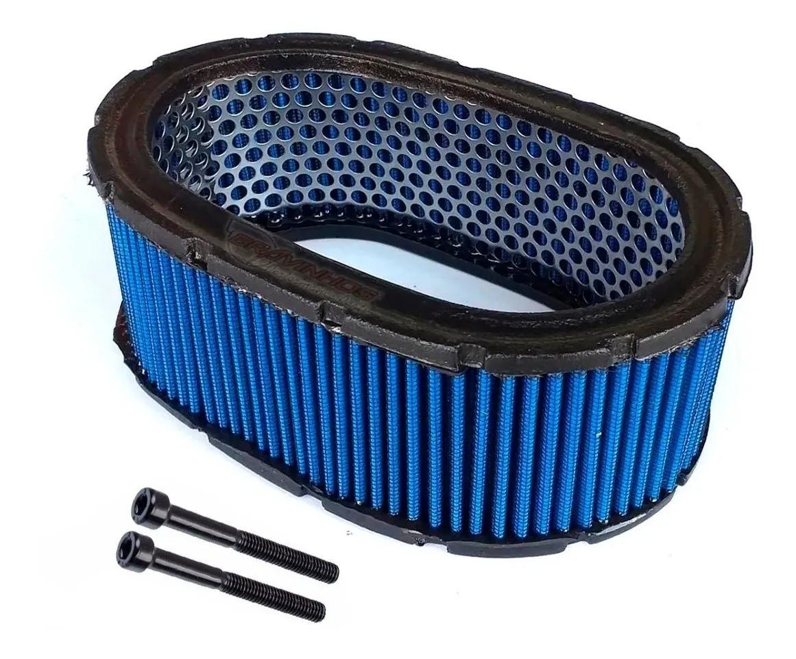 Elemento Oval Filtro de Ar Esportivo Carburador Alto 70mm