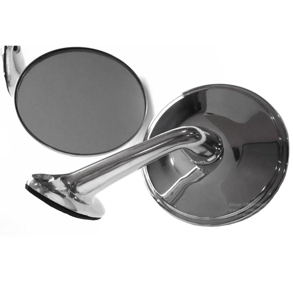 Espelho Retrovisor GM Opala Caravan Réplica Original Aço Inox