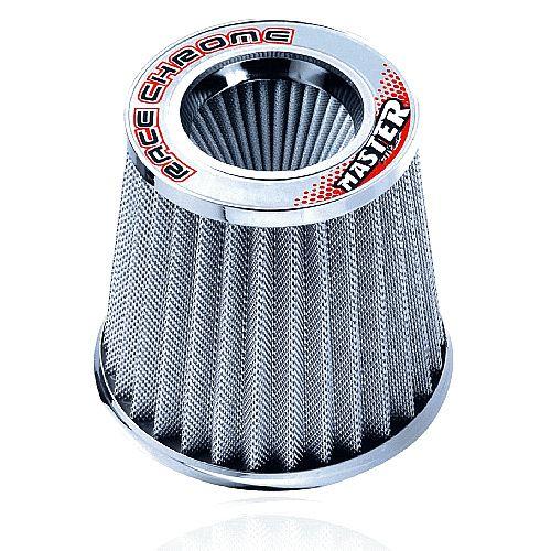 Filtro de Ar Esportivo Duplo Fluxo Race Chrome Master Rc051 Alumínio
