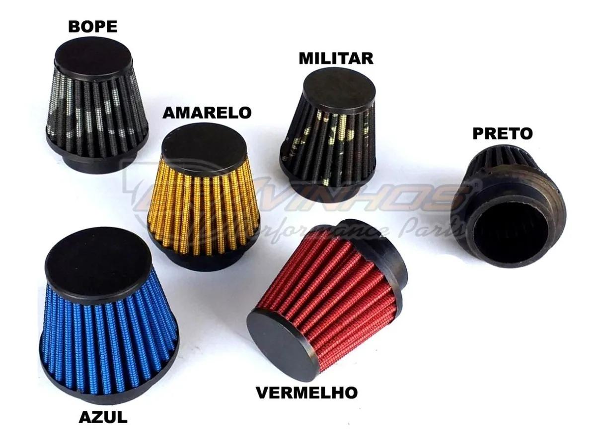 Filtro de Ar Esportivo Lavável para Motos 43mm + Brinde