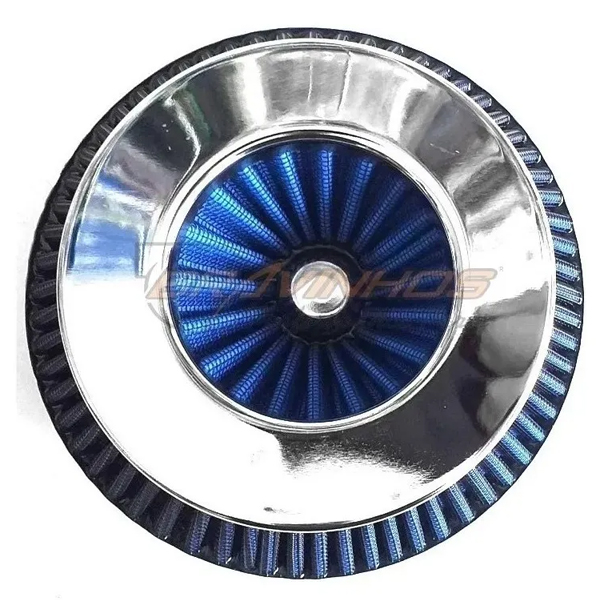 Filtro de Ar Turbina Baixo Duplo Fluxo Bocal 100mm