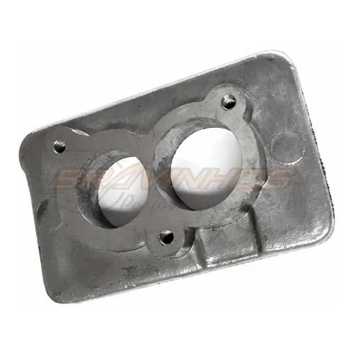 Flange para Adaptação Carburador 2e 3e Coletor Admissão Alumínio