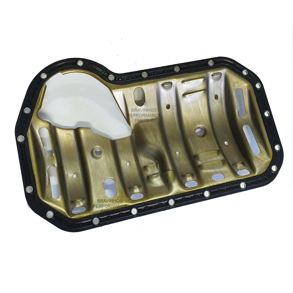 Junta Com Defletor Do Cárter Vw Gol Motor Ap 1.6 1.8 2.0